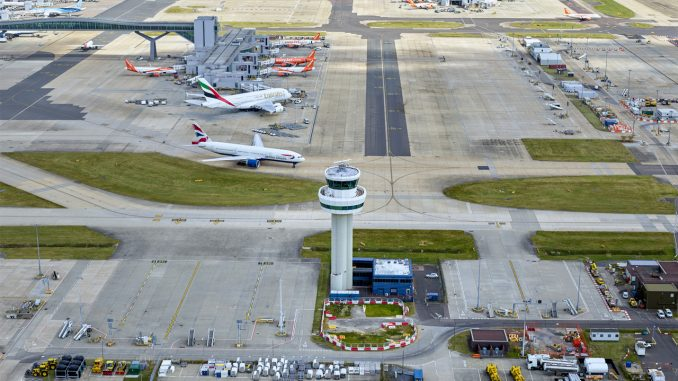 Drone sightings ground planes at major British airport