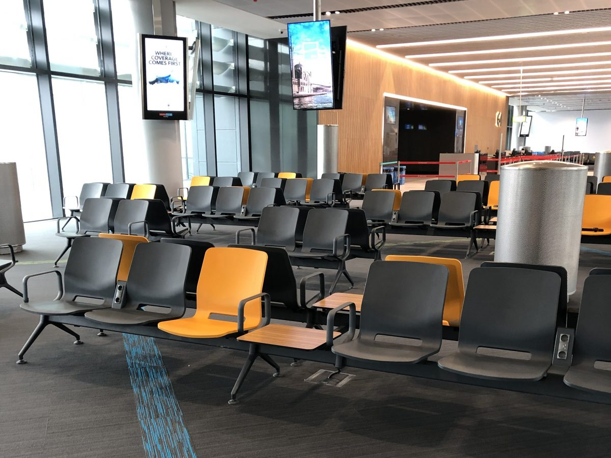 Waiting area at the gates