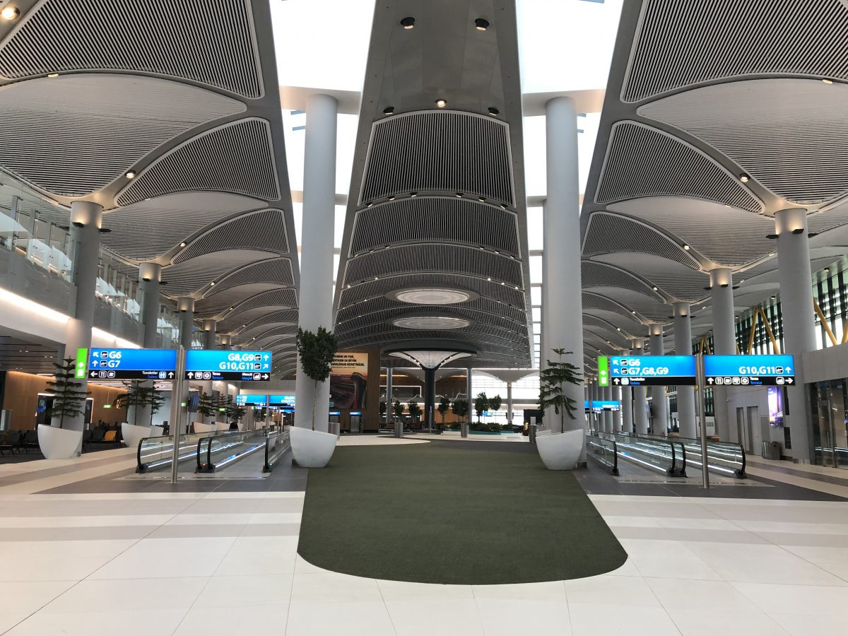 Shopping section in departure area G